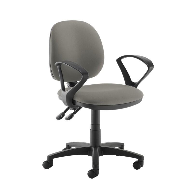 Jota medium back PCB operators chair with fixed arms - Slip Grey - Furniture