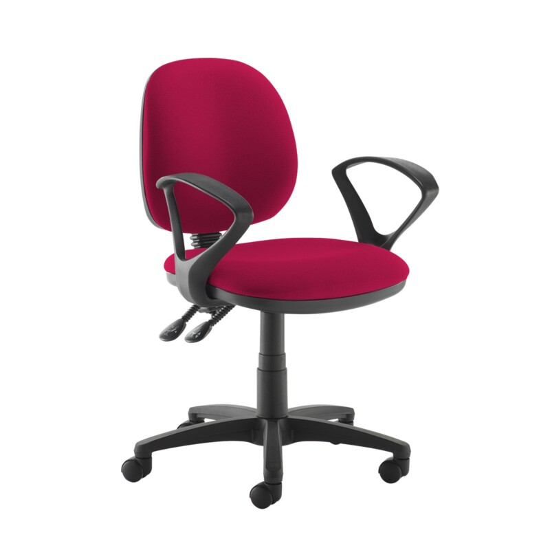 Jota medium back PCB operators chair with fixed arms - Diablo Pink - Furniture