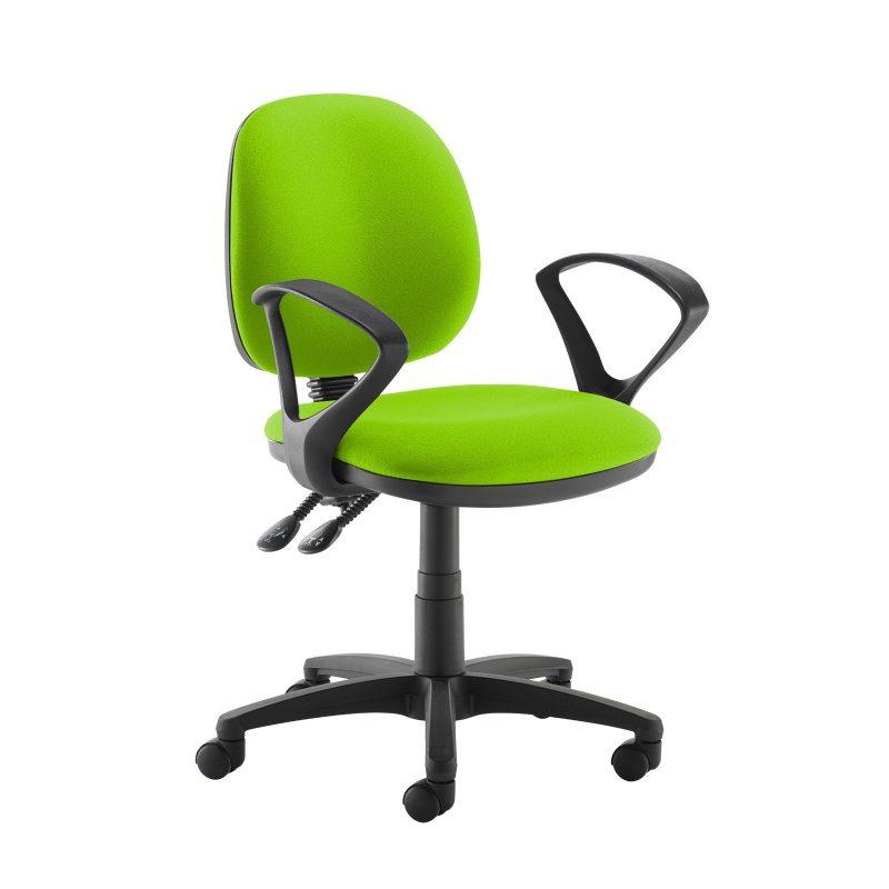 Jota medium back PCB operators chair with fixed arms - Madura Green - Furniture