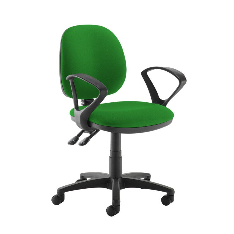 Jota medium back PCB operators chair with fixed arms - Lombok Green - Furniture