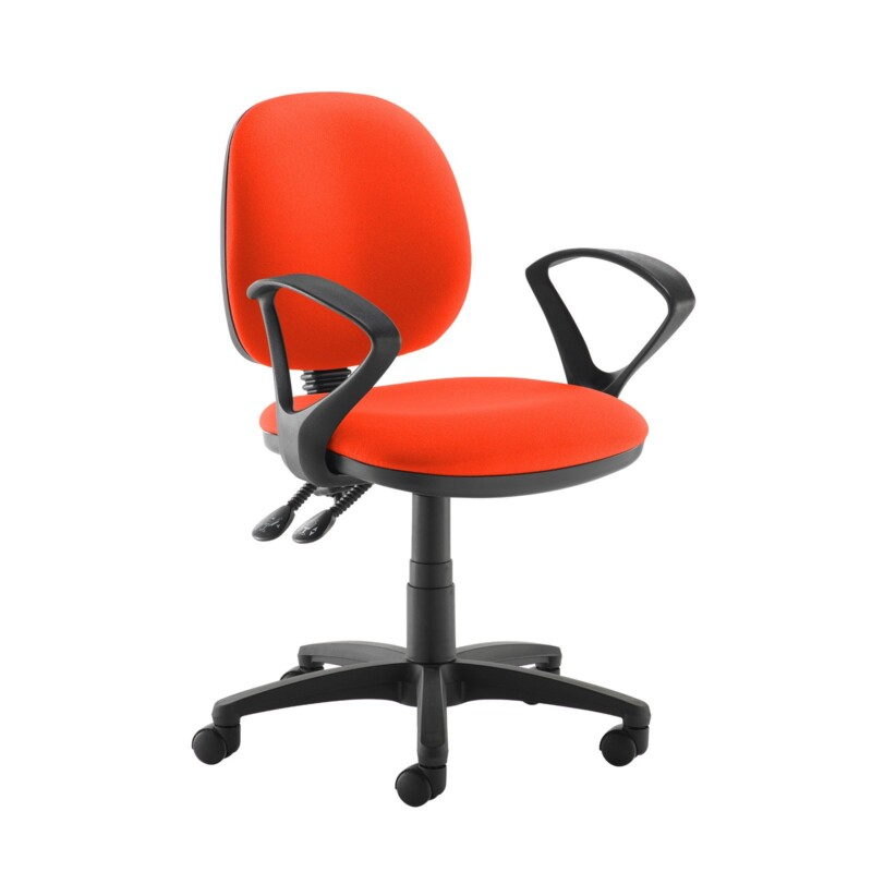Jota medium back PCB operators chair with fixed arms - Tortuga Orange - Furniture