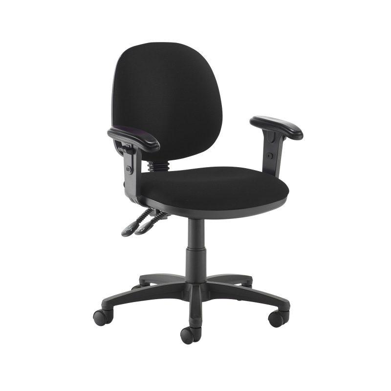 Jota medium back PCB operators chair with adjustable arms - Havana Black - Furniture