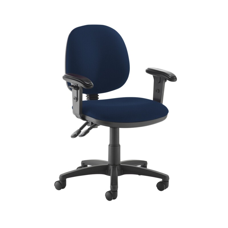 Jota medium back PCB operators chair with adjustable arms - Costa Blue - Furniture