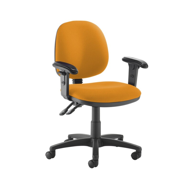 Jota medium back PCB operators chair with adjustable arms - Solano Yellow - Furniture