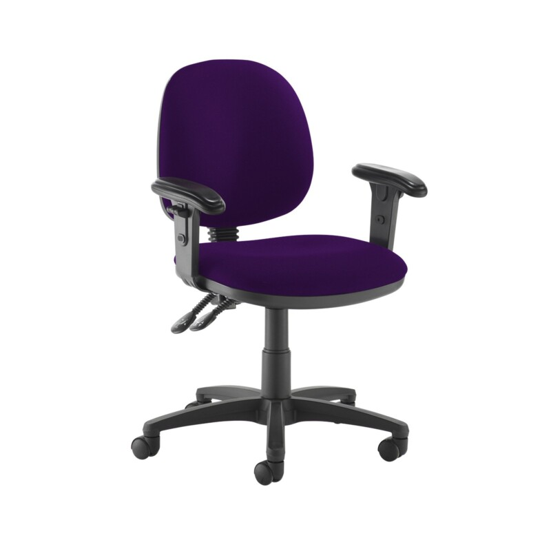 Jota medium back PCB operators chair with adjustable arms - Tarot Purple - Furniture