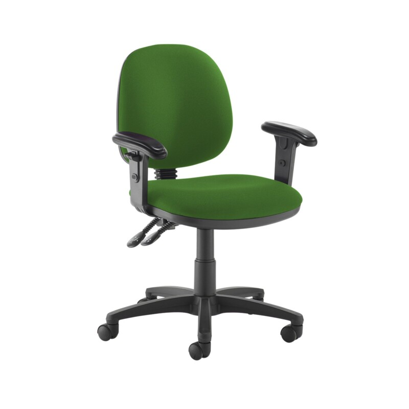 Jota medium back PCB operators chair with adjustable arms - Lombok Green - Furniture