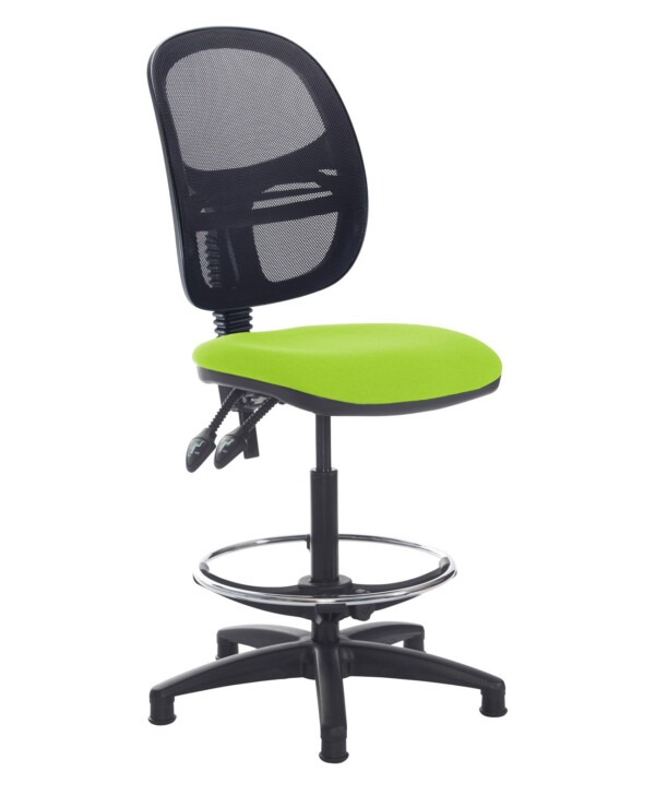 Jota mesh back draughtsmans chair with no arms - Madura Green - Furniture