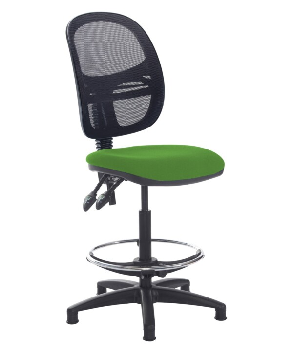 Jota mesh back draughtsmans chair with no arms - Lombok Green - Furniture