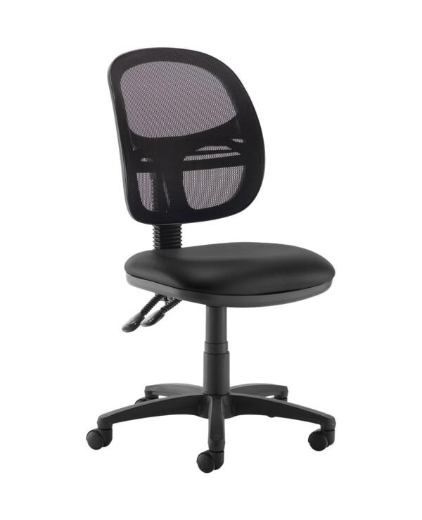 Jota Mesh medium back operators chair with no arms - Nero Black vinyl - Furniture