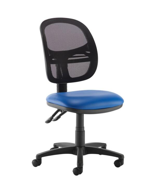 Jota Mesh medium back operators chair with no arms - Ocean Blue vinyl - Furniture