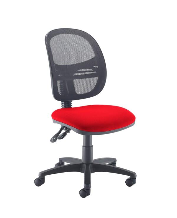 Jota Mesh medium back operators chair with no arms - Panama Red - Furniture