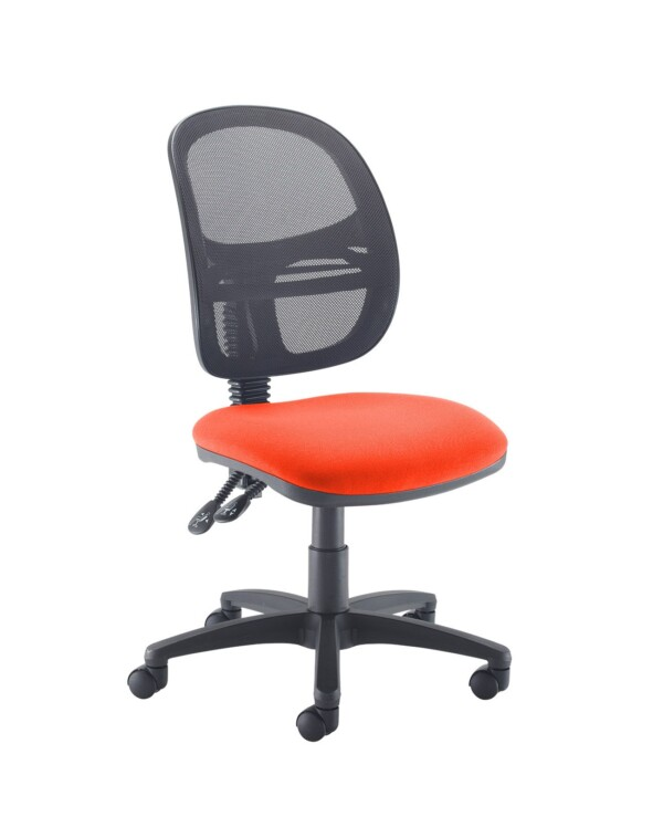 Jota Mesh medium back operators chair with no arms - Tortuga Orange - Furniture