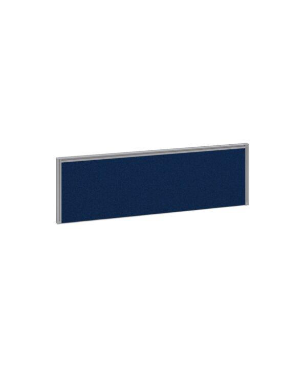 Straight fabric desktop screen 1200mm x 380mm - blue fabric with black aluminium frame - Furniture