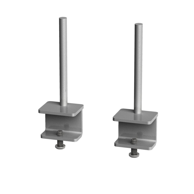 Fabric screen brackets for single desks or runs of Adapt and Fuze single desks (pair) - silver - Furniture