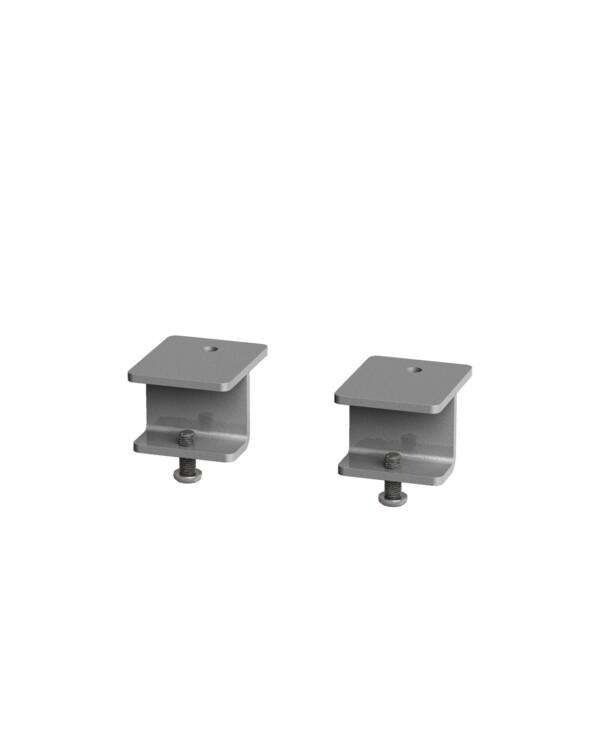 Glazed screen brackets for single Adapt and Fuze desks or runs of single desks (pair) - silver - Furniture
