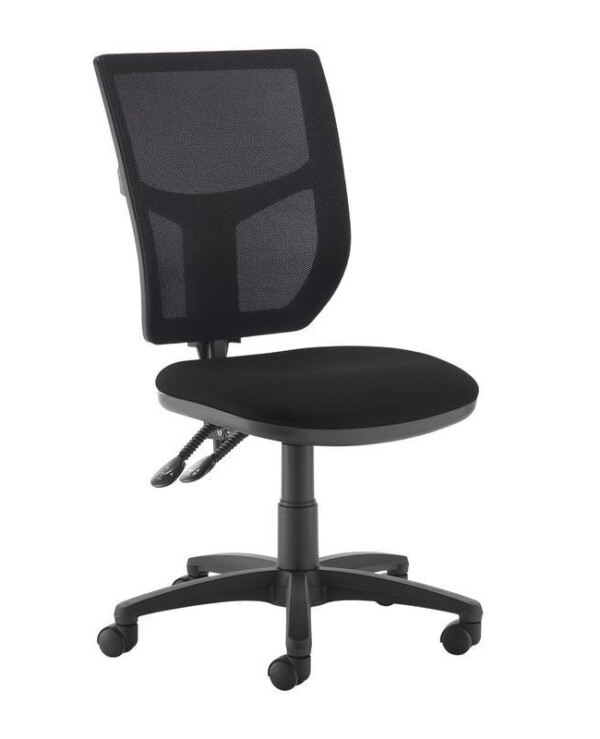 Altino 2 lever high mesh back operators chair with no arms - black - Furniture