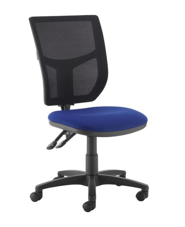 Altino 2 lever high mesh back operators chair with no arms - blue - Furniture