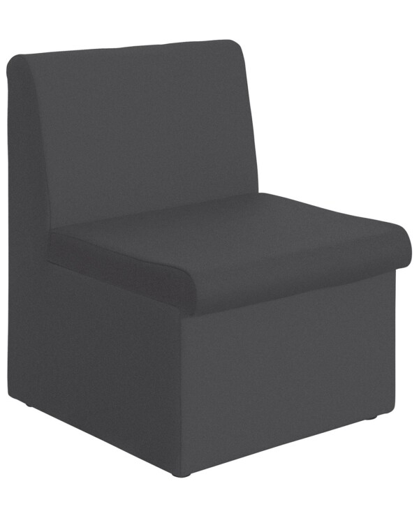 Alto modular reception seating with no arms - charcoal - Furniture