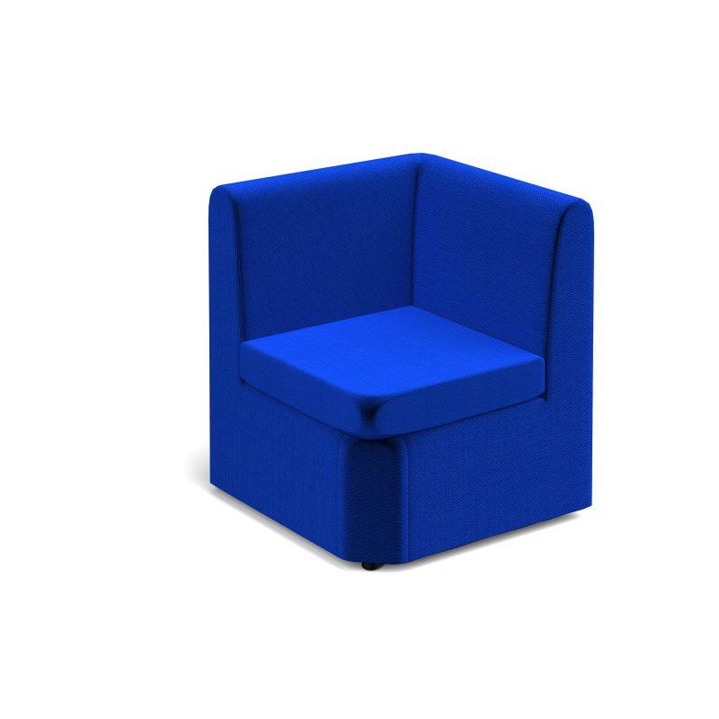 Alto modular reception seating corner unit - blue - Furniture