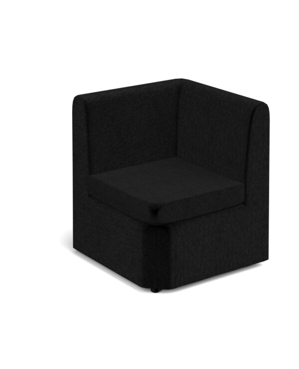 Alto modular reception seating corner unit - charcoal - Furniture