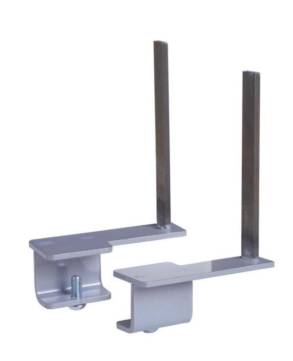 Aluminium framed screen brackets (pair) to fit on back of desk - white - Furniture