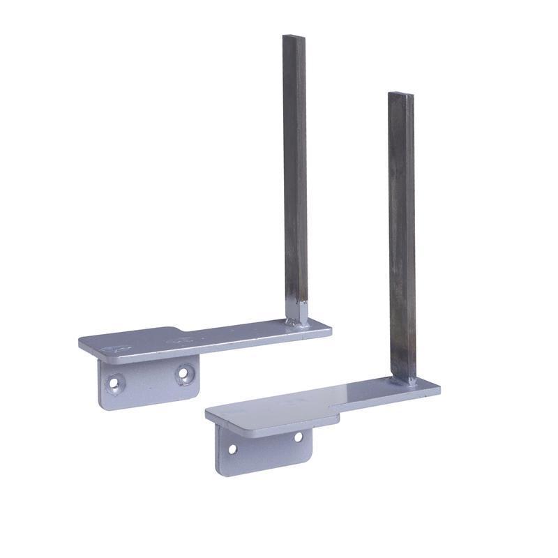 Aluminium framed screen brackets (pair) to fit on desk return - white - Furniture