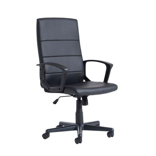Ascona high back managers chair - black faux leather - Furniture