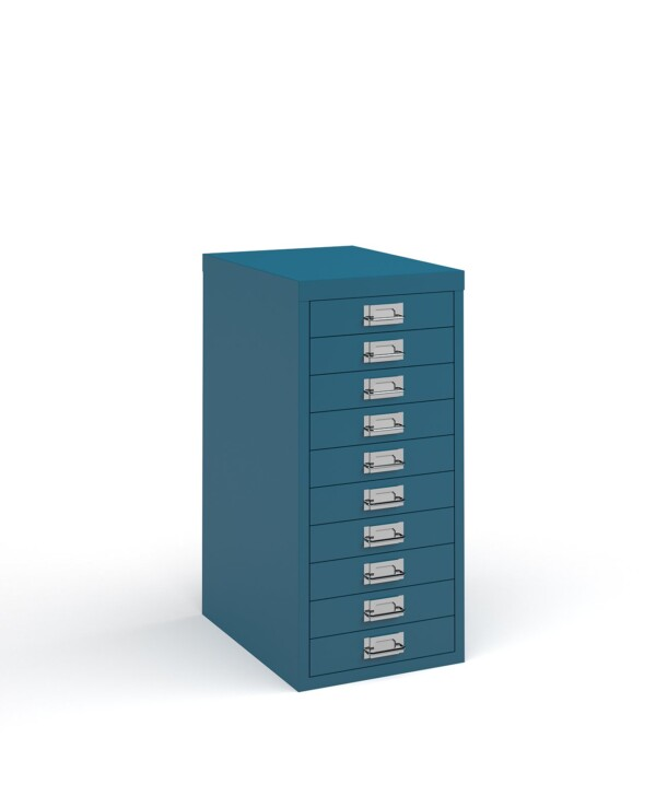Bisley multi drawers with 10 drawers - blue - Furniture