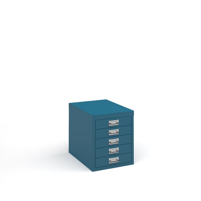 Bisley multi drawers with 5 drawers - blue - Furniture