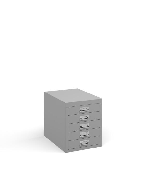 Bisley multi drawers with 5 drawers - grey - Furniture
