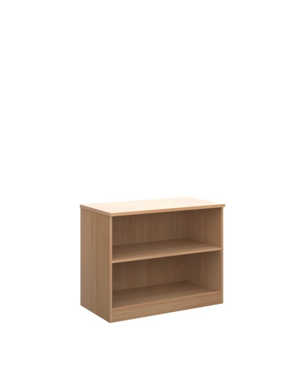 Deluxe bookcase 800mm high with 1 shelf - beech - Furniture