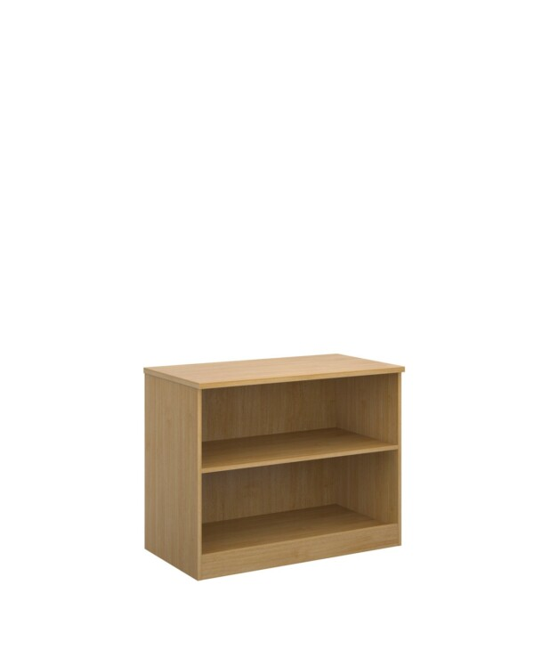 Deluxe bookcase 800mm high with 1 shelf - oak - Furniture