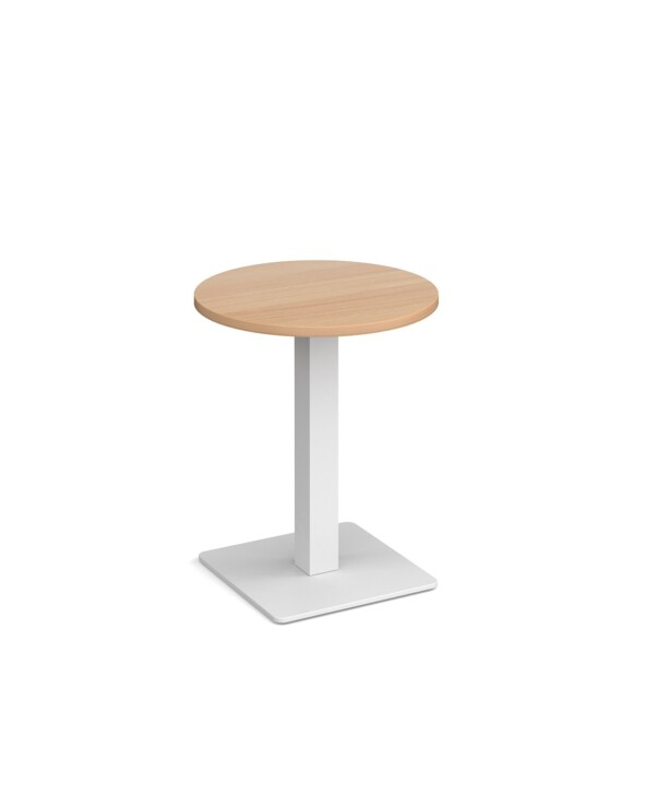 Brescia circular dining table with flat square black base 600mm - beech - Furniture