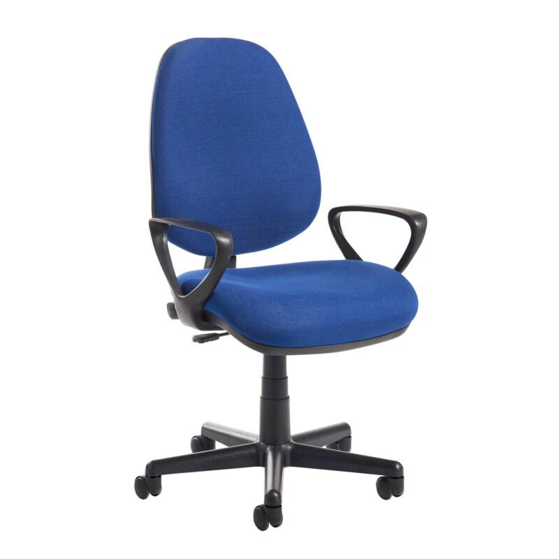 Bilbao fabric operators chair with fixed arms - blue - Furniture