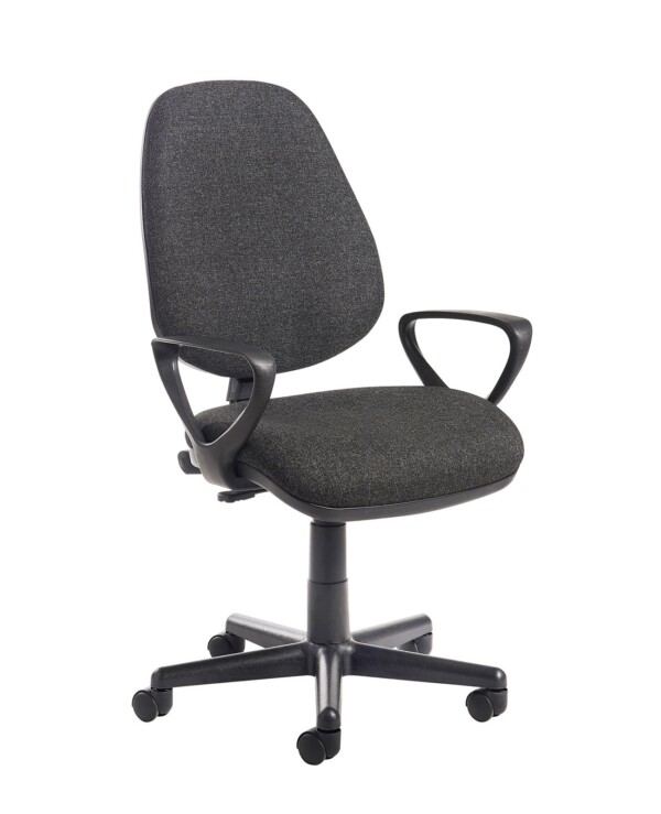 Bilbao fabric operators chair with fixed arms - charcoal - Furniture