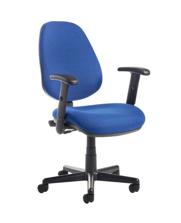 Bilbao fabric operators chair with adjustable arms - blue - Furniture