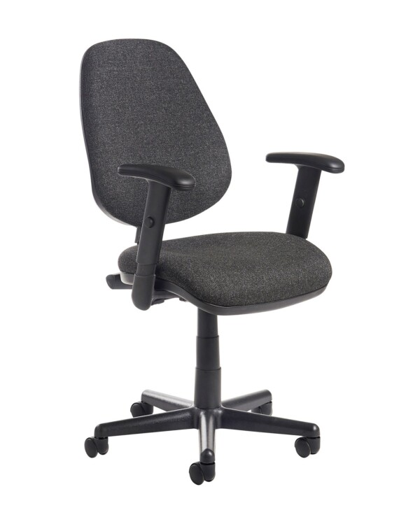 Bilbao fabric operators chair with adjustable arms - charcoal - Furniture
