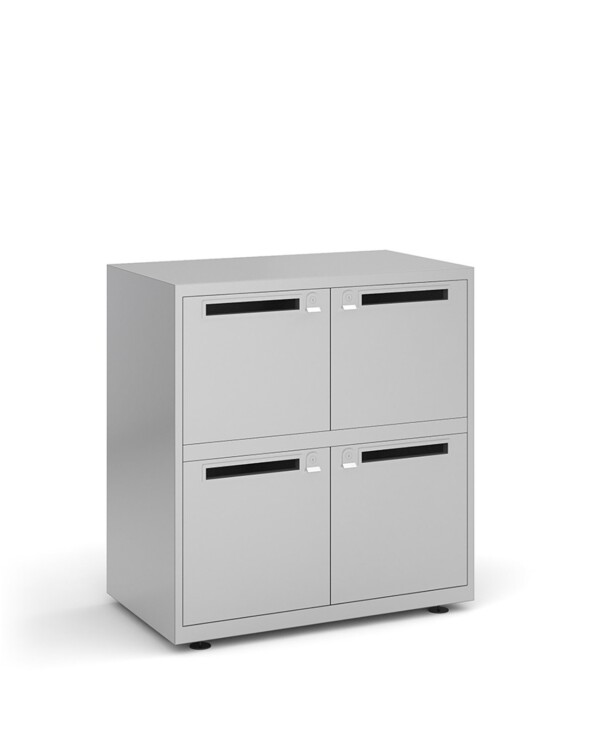 Bisley lodges with 4 doors and letterboxes - silver - Furniture