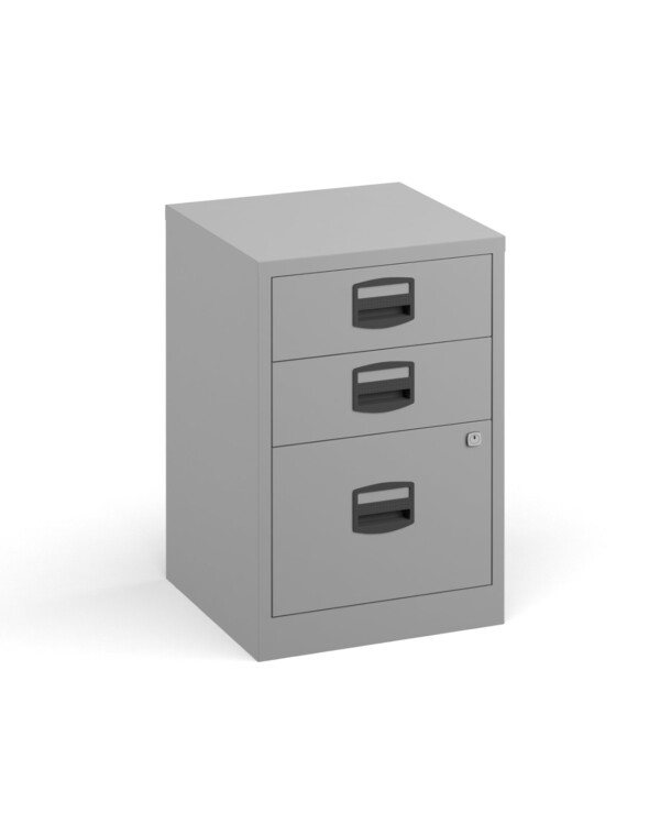Bisley A4 home filer with 3 drawers - grey - Furniture