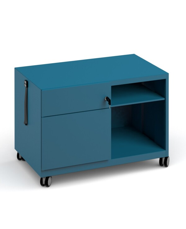 Bisley steel caddy left hand storage unit 800mm - blue - Furniture