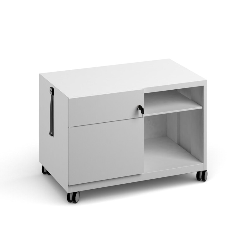 Bisley steel caddy left hand storage unit 800mm - goose grey - Furniture