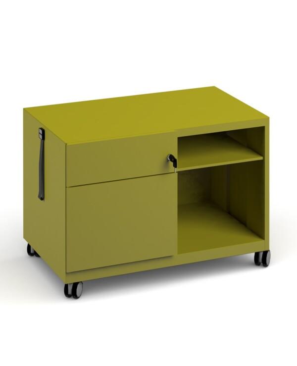 Bisley steel caddy left hand storage unit 800mm - green - Furniture