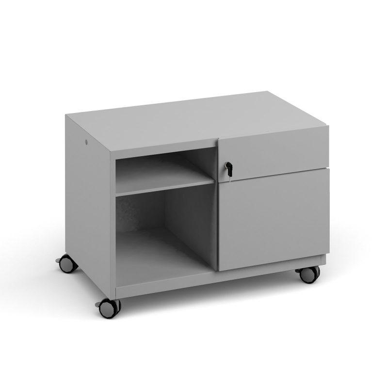 Bisley steel caddy right hand storage unit 800mm - goose grey - Furniture