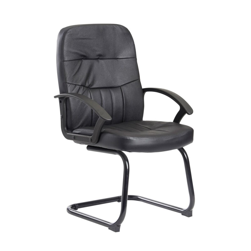 Cavalier executive visitors chair - black leather faced - Furniture