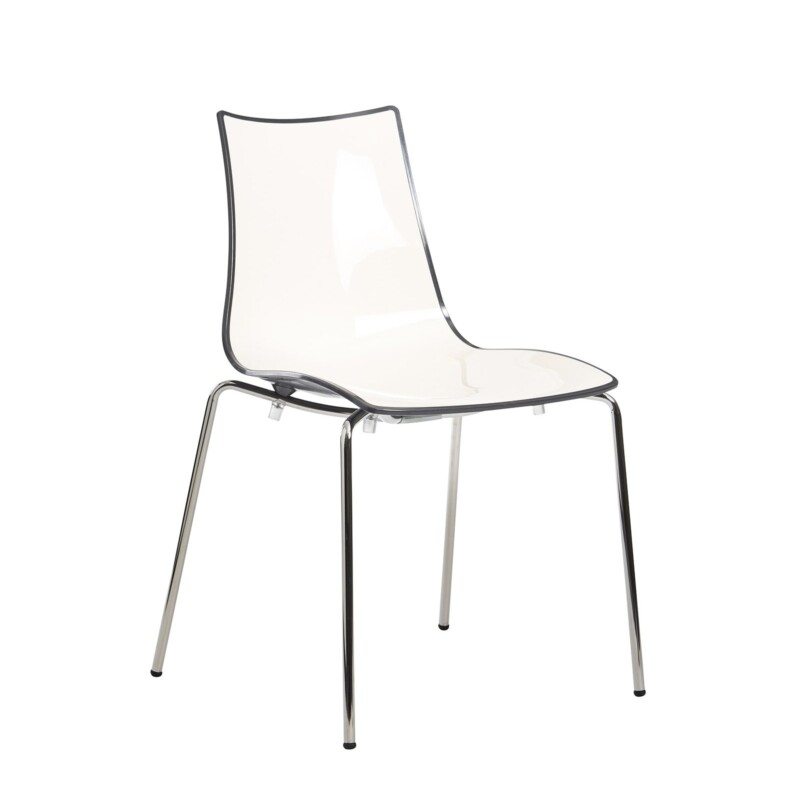Gecko shell dining stacking chair with anthracite legs - anthracite - Furniture