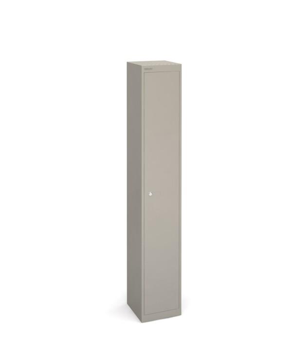 Bisley lockers with 1 door 305mm deep - grey - Furniture