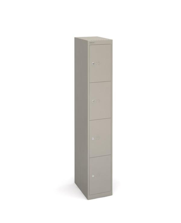 Bisley lockers with 4 doors 457mm deep - grey - Furniture