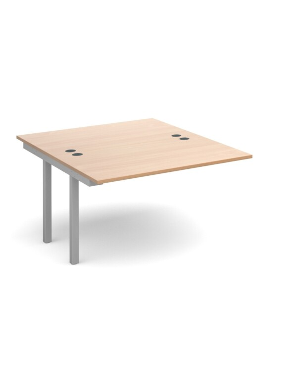 Connex add on units back to back 1200mm x 1600mm - silver frame, beech top - Furniture