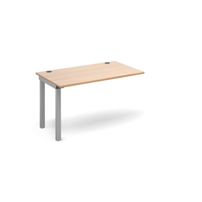 Connex add on unit single 1200mm x 800mm - silver frame, beech top - Furniture