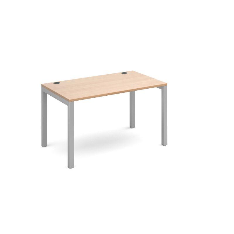 Connex single desk 1200mm x 800mm - silver frame, beech top - Furniture